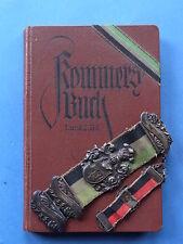 Studentisches Kommersbuch und Bierzipfel aus gleichem Besitz Grün Silber Schwarz