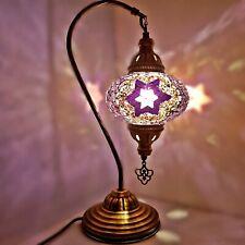 Authentique Turkish Coloré Lampe Lumière Style Tiffany Verre Bureau Ce Tested