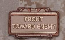 Mil-Spec Monkey Front Toward Enemy Morale Patch Desert Hook Back