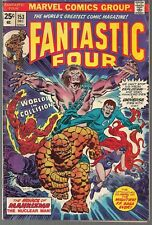 "FANTASTIC FOUR #153 MARVEL 12/74 MAHKIZMO & THUNDRA ""WORLDS IN COLLISION!"" VG+"