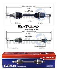 Plymouth For Dodge Neon FWD 2000-2001 Pair of Front CV Axle Shafts SurTrack Set