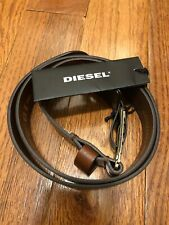 "NWT Mens Diesel Vintage/Walnut Extra Touch 100% Buffalo Leather Belt 32"" / 80cm"