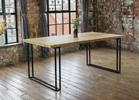 Nara Solid Mango Wood Luxury Dining Table with Distressed Natural Finish