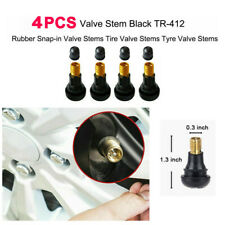 4x Car Auto TR 412 Snap In Tyre (Tire) Valve Rubber Tubeless Short Valve Stems