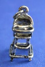 Baby High Chair Sterling Silver 3D Bracelet Charm Pendant Gift Embellishment 925