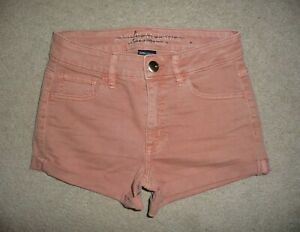American Eagle Super Stretch Hi-Rise shortie jean short shorts Size 0 Worn Once