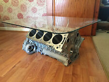 Cosworth Race V8 Engine Block Coffee Table - Natural Metal finish
