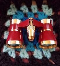 Swift Theater Opera Binoculars Glasses Red Gold 3x25 with Light EUC