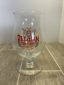 Collectible Duvel Tulip Beer Glass Belgian For A Day