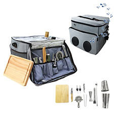 New listing Cocktail Travel Set,Sky Fish 13 -Pieces Bartender Kit Including Bar Tools And