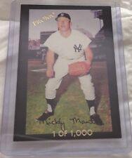 Mickey Mantle NY Yankees Promo Baseball Card Super Gloves Reprint