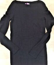 LILLY PULITZER MARCOTTE SWEATER L/S Boatneck Pullover w Ruching Black size S