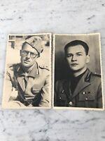 VECCHIE CARTOLINE FOTOGRAFICHE MILITARI 1937 OLD PHOTO POSTCARDS