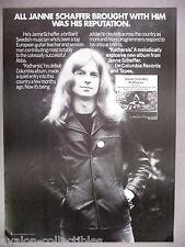Janne Schaffer PRINT AD - 1977 ~~ Katharsis
