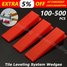 100-500 PCS Tile Leveling System Wedges Levelling Spacer Tool Wall Floor Tiling