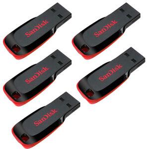 SanDisk 128GB 64GB 32GB 16GB 8GB Cruzer Blade CZ50 USB Flash Pen Drive OTG Lot