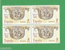 Spain Edifil 2575 **  Dia del Sello  MNH   BLOQUE DE 4