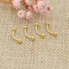 4pcs Barbell Curved Eyebrow Ring Surgical Steel Ring Bar Tragus Ear Piercing