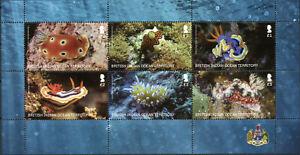 BIOT Marine Animals Stamps 2021 MNH Seaslugs Corals Coral 6v M/S