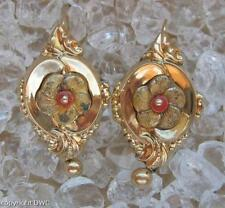 Korallenohrringe Goldohrringe Ohrringe aus 585er Gold Biedermeier mit Koralle