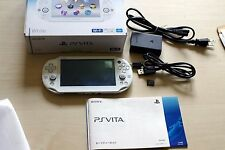 USED PS VITA PCH-2000 ZA12 WHITE Console Handheld System w/16G SD Memory Card