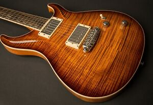 NEW ROGER GIFFIN STANDARD HOLLOWBODY UPGRADE FLAME CURL TOP TIGER EYE BEAUTIFUL!