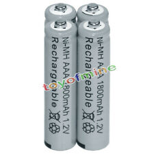 4x AAA battery batteries Bulk Nickel Hydride Rechargeable NI-MH 1800mAh 1.2V Gy