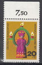 BRD 1971 Mi. Nr. 709 mit Oberrand Postfrisch TOP!!! (27520)