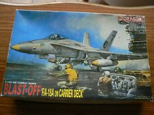 1/144th scale Dragon Blast-Off F/A-18A on Carrier Deck model kit