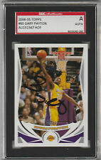 Gary Payton 2004-05 Topps signed auto autographed card SGC Certified