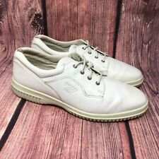 ECCO Soft Women's White Leather Casual Comfort Sneaker Shoes Size 42 US 11-11.5
