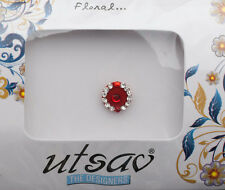 Bindi bijoux de peau front ht de gamme rond fleur strass 11mm rouge ING A 2931