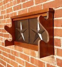 Wooden Gun Racks For Wall Rustic Star 2 Guns Rack Shotgun Locking Storage Rifle