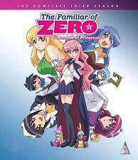 The Familiar Of Zero . Season 3 . Rondo Of Princesses . Anime . Blu-ray . NEU