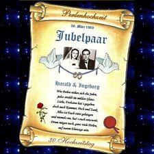 Geschenk - Perlenhochzeit - 30. Hochzeitstag Urkunde Perlen Hochzeit 30 Jahre