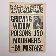 Midnight Magazine Tabloid Newspaper 1966 Widow Poison Santa Criminal Christmas
