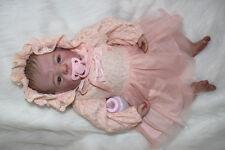 22'' Reborn Baby girl Doll soft Silicone Vinyl likelife Newborn bebe toys gift