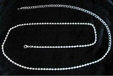 New Fashion 1Row Long Silver Crystal Rhinestone Waist Chain Belt N32