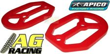 Apico Pro Bite Pro-Bite Footpegs Foot Pegs Replacement Silicone Seal Plate Red