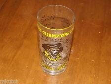 1960 Pirates World champs glass - Signatures - Roberto Clemente/Mazeroski/law