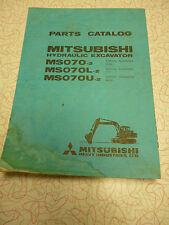 Mitsubishi MS070-2, MS070L-2, MS070U-2  Parts Manual  PLUS 4D30C ENGINE manual