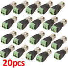 20 Pcs Lots Male Coax CAT5 To CCTV Coaxial Camera BNC Video Balun Connectors