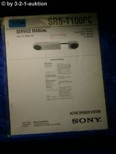 Sony Service Manual SRS t100pc Speaker System (#5154)