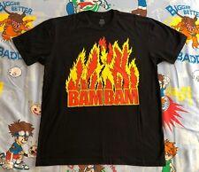 Bam Bam Bigelow T-Shirt Men's Large WWF/WWE/ECW authentic reprint flames