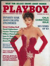 Dec. 1983 PLAYBOY MAGAZINE, CHRISTMAS ISSUE, Joan Collins Pictorial, Sex Stars