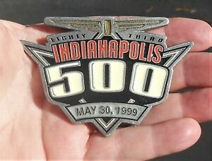 Indianapolis 500 Pewter Belt Buckle From May 30, 1999, Made by Siskiyou Buckle