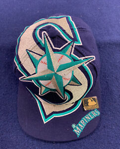Seattle Mariners The Game Big Logo Sports Vintage 90's Snapback Hat Specialties