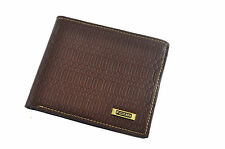 Men Quality GENUINE leather Wallet Purse Credit Card Holder Bifold Brown Coffee