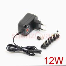 12W EU plug AC/DC Universal power adapter 3V/4.5V/5V/6V/7.5V/9V/12V 500mA supply