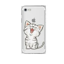 Soft Silicon Kitty Cat Print Transparent Back Case Cover For Apple iPhone 7